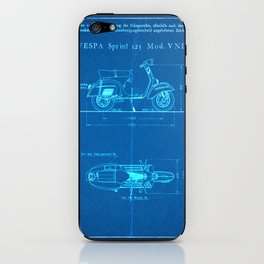 Motor Scooter Patent - Blueprint Style iPhone Skin
