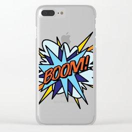 Comic Book Pop Art BOOM Clear iPhone Case