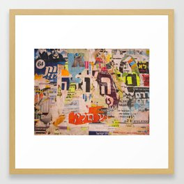 Hashem Poster Collage Framed Art Print