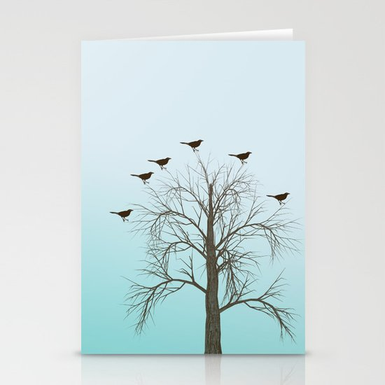 Tree with Birds Stationery Cards