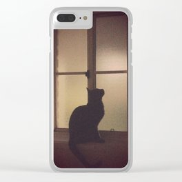 The Cat in the Window Clear iPhone Case