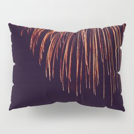 Beautiful Red and Orange Fireworks falling down in the sky! Pillow Sham