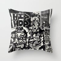 hip hop Throw Pillows featuring Hip Hop by J. Unger Photography