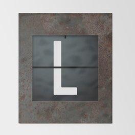monogram schedule L Throw Blanket
