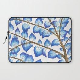 Breezy Blue Leaves Laptop Sleeve