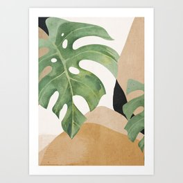Abstract Art Tropical Leaves 3 Art Print
