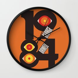 1984, George Orwell, Nineteen Eighty-Four, book cover, illustration, cult books,  Wall Clock