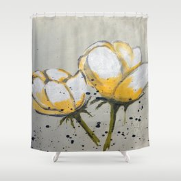 Blooming Flowers Shower Curtain