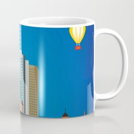 Melbourne, Australia - Skyline Illustration by Loose Petals Coffee Mug