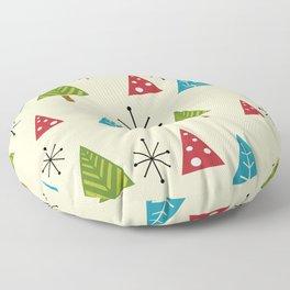 Mid Century Modern Christmas Trees Floor Pillow