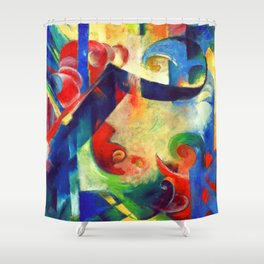 Franz Marc Broken Forms Shower Curtain