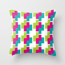 Bright Colors Nested Z's Pattern Throw Pillow