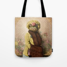 Lady Vanderkat with Roses Tote Bag