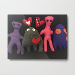 Scarboo babies series - JEAN LUC AND FAMILY Metal Print