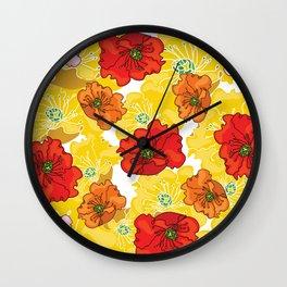 marzipan flowers Wall Clock