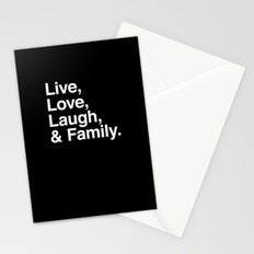 Live Love Laugh and Family Stationery Cards