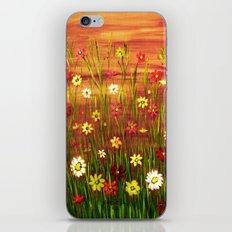 Flowers in the sunrise iPhone & iPod Skin