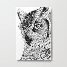 Ink Owl Metal Print