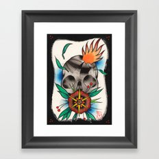Skull of Unnamed Fear Framed Art Print