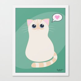 I meow you - green Canvas Print