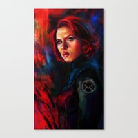 black widow Canvas Prints featuring Black Widow by Five-Oclock