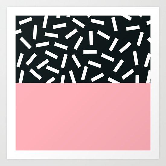 Memphis pattern 24 Art Print