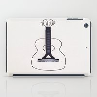 guitar iPad Cases featuring GUITAR by Withfloor