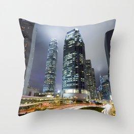 Hong Kong-Sky Scrapper Throw Pillow