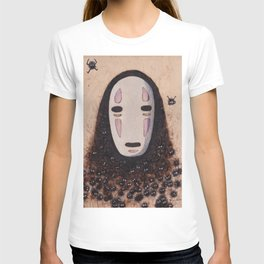 No Face - Spirited Away with Soot sprites (Susuwatari) T-shirt