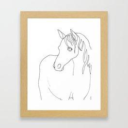 Horse, line drawing Framed Art Print