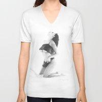 velvet underground V-neck T-shirts featuring Velvet by Giorgio Arcuri
