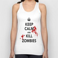 zombies Tank Tops featuring ZOMBIES by Tania Joy