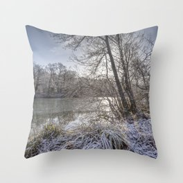 Sunrise across the Pond Throw Pillow
