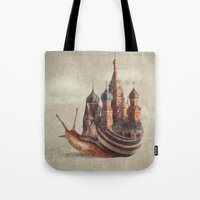 marine Tote Bags featuring The Snail's Daydream by Eric Fan