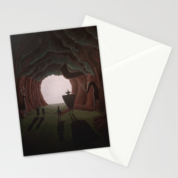 Tunnel in the end of the light. Stationery Cards