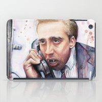 nicolas cage iPad Cases featuring Nicolas Cage by Olechka
