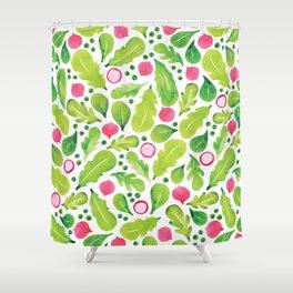 Green Salad pattern Shower Curtain