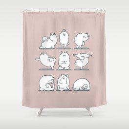 Samoyed Yoga Shower Curtain