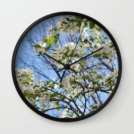 Crabapple Flowers 03 Wall Clock