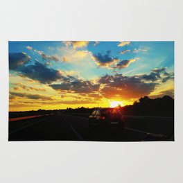 sunset highway Rug
