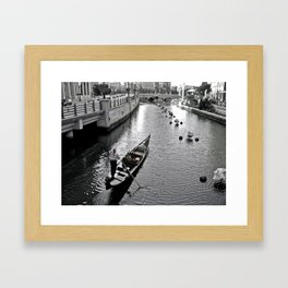 Condola at Waterfire in Providence, Rhode Island Framed Art Print