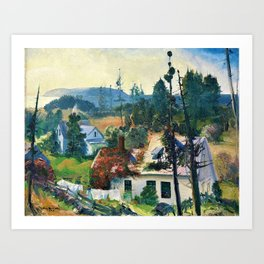 George Wesley Bellows - The Red Vine, Matinicus Island, Maine - Digital Remastered Edition Art Print