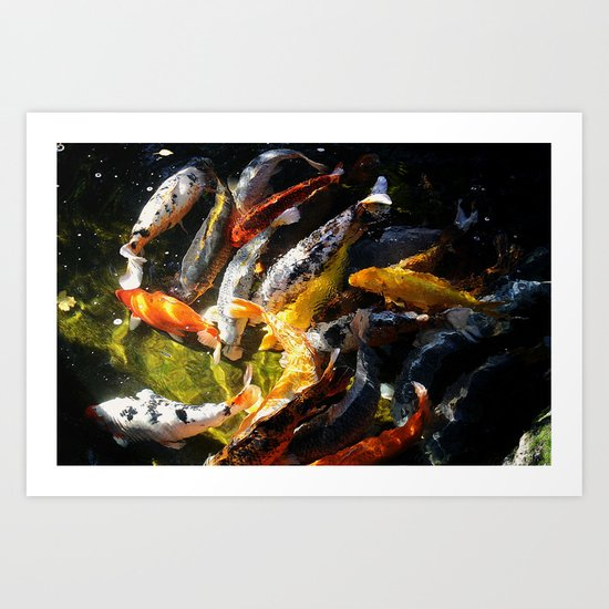 Koi Fish Abstract Art Print