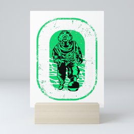Divers Don't Die: They Go To The Bottom & Regroup Mini Art Print