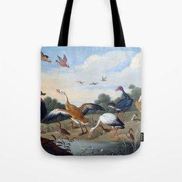 Jan van Kessel the Elder Egrets and Ducks Tote Bag