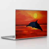 dolphin Laptop & iPad Skins featuring Dolphin by Monica Georg-Buller