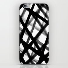 Criss Cross Black and White iPhone Skin