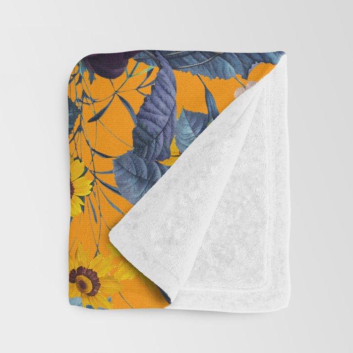 Summer Botanical Garden IX Throw Blanket