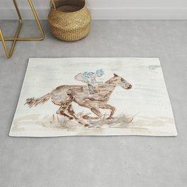 Race Horse, Derby, Kentucky, Rug