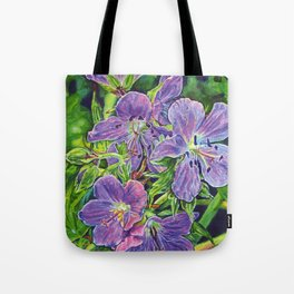 Six Wild Geraniums Tote Bag